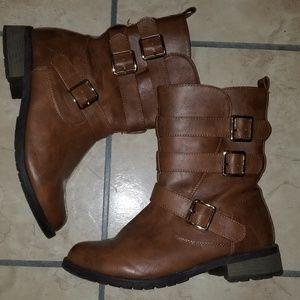 Women's Buckle Boots - size 8